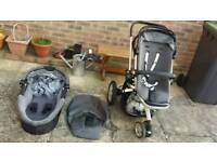 Quinny buzz pushchair / pram & carrycot