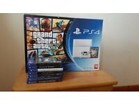 500gb White PS4 boxed with 7 games