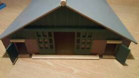 Kids Globe Large wooden farm shed
