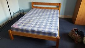 Double bed with mattress and/or wardrobe with mirror