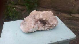 Natural Geode Rock Stone Quartz Large Crystal