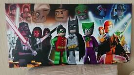 Lego Video Game Characters Canvas