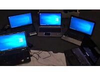 5 laptop job lot 4 working 1 dont hp dv6 2 acers alienware 14xr2 skeetbook