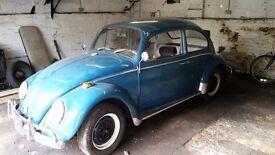 VW Classic 1300 1965 Blue Beetle