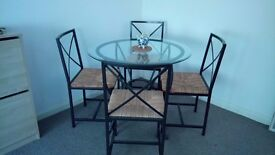 IKEA Round Dining table and 4 chairs