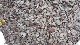 Purple slate chippings small, approx 500kg
