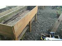 Raised garden planter long