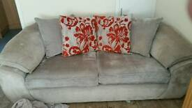 1 large 1 small 2 seater sofas
