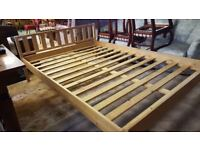 Pine Double Bed in Very Good Condition