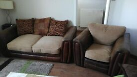 Sofabed and single sofa