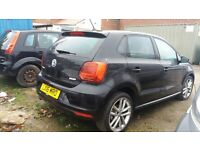 2016 VOLKSWAGEN POLO SEL 1.0 TSI BLACK DAMAGED SALVAGE REPAIRS
