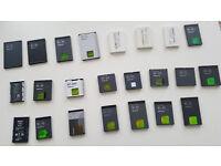 Nokia battery joblot BL4J,BP6MT,BL6Q,BL4U,BL6F,BP4L,BLC2,BLD3,BL5B,BL4C,BP3L,BL5