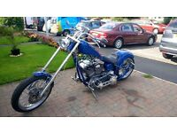 Custon Chopper Motor Bike - Mid West Silver Horse Chopper