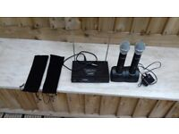 CORDLESS MICROPHONES (X2) AND MICROPHONE CHARGER