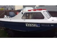 CJR fishing Boat with Outboard 25 hp trailer