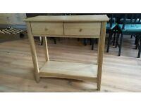 John Lewis Alba Console Table, Oak £95 Great condition