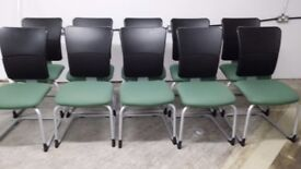 STEELCASE STRAFOR RECEPTION MEETING CHAIR WITH HIGH BACK - 10 GREEN AVAILABLE