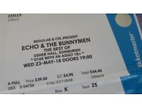 URGENT - Echo and the Bunnymen - Usher Hall
