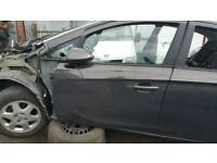 Vauxhall Corsa e n/s/f door in grey z190 15-17