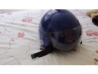 Roof Motorbike Helmet mauve/purple colour has Not been in a Accident or Dropped size 56 small