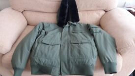 Men's New Quiksilver Winter Coat Khaki, Size Large