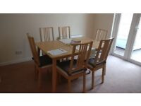 EXTENDABLE DINING TABLES AND CHAIRS