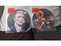 2 DAVID BOWIE VINYL PICTURE DISCS KNOCK ON WOOD & GOLDEN YEARS