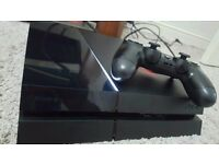 PlayStation 4 (PS4) Console 500gb - good condition with 2 games