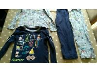 Two pairs of 5-6 year old PJ's from George at asda with science motif