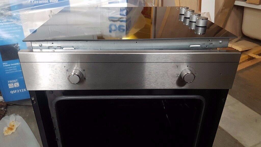 BEKO Built-In Fan Oven & Ceramic Hob Package QSF212X