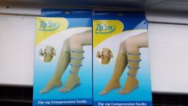 NEW Zip Sox Zip Up Compression Socks