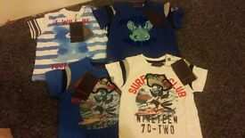 NWT - 6 months t-shirts x 16 in 4 different styles