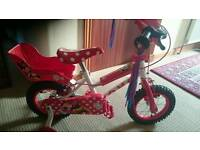 Minnie mouse kids bike
