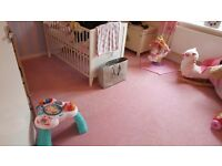 Pink carpet great condition