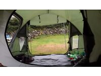 Eurohike avon 3 DLX tent + awning poles.