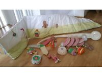 Mamas&Papas - Musical Cot Mobile + Cot Bumper + Cot Spiral Activity Toy RRP over £50