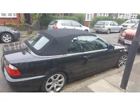 QUICK SALE!!! BLACK BMW 320ci Convertible, Excellent Condition In And Out, 90k Miles