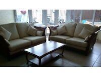 2 X 'Multi York' Sofa's with matching coffee table