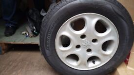 USED but AS NEW Arrow Speed Tyre with Alloy Wheel 185/65R14 86H