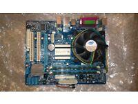 Motherboard, CPU and Memory.