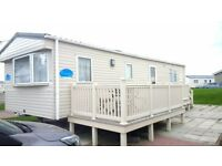 Static Caravan for sale Whitley Bay, excellent condition, 2011, master ensuite, decking