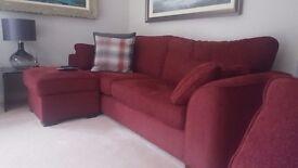 Large sofa & footstools