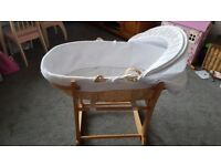 John Lewis Moses Basket with Stand & Mattress
