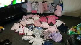 Baby girls bundle of clothes Newborn up to 3 months