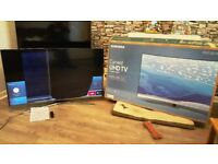 Samsung 55 Inch Curved Ultra HD 4K TV, 2016 Model. SMASHED SCREEN, Spares or Repair