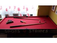 Kids 5ft pool table in red