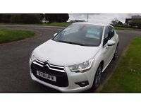 """CITROEN DS4 1.6 HDI DSTYLE(61)plate,18""""Alloys,Air Con,Cruise,Park Sensors,Pearl White,Full History"""