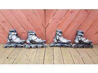 Roller skates pair Adult UK 10