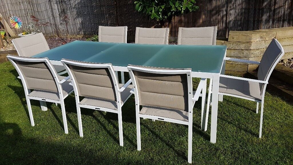 8 seater garden dining table and chairs | in Bournemouth ...