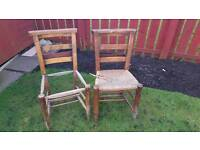Pair of bible chairs